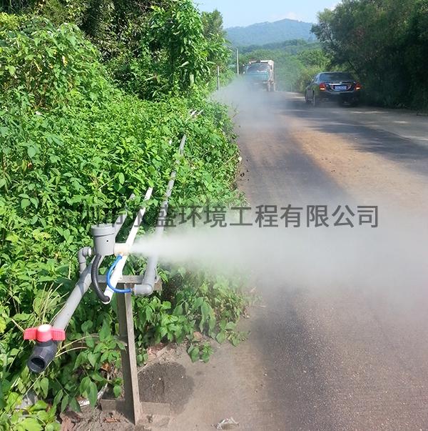 垃圾发电厂进出场道路喷雾除臭现场
