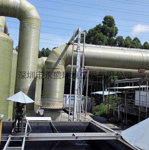 污水处理厂采用加盖抽风除臭现场